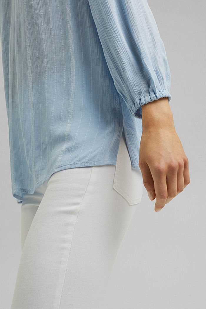 Striped tunic-style blouse, LIGHT BLUE, detail image number 2
