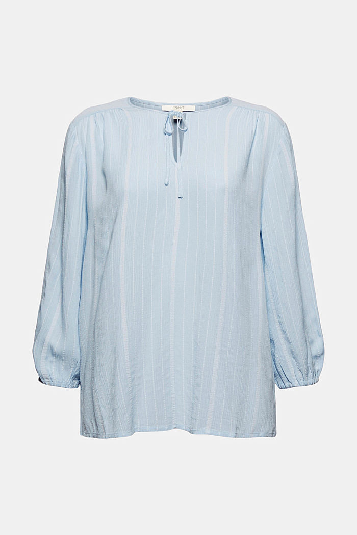 Striped tunic-style blouse, LIGHT BLUE, detail image number 5