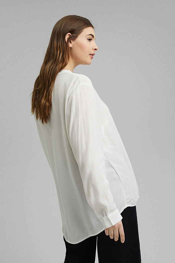CURVY blouse made of LENZING™ ECOVERO™, OFF WHITE, detail image number 3