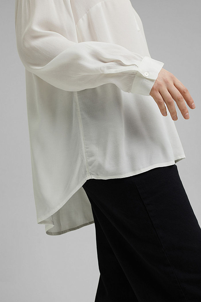 CURVY blouse made of LENZING™ ECOVERO™, OFF WHITE, detail image number 2