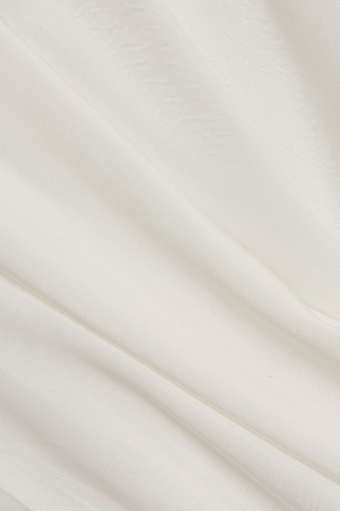 Blouse top made of LENZING™ ECOVERO™, OFF WHITE, detail image number 4