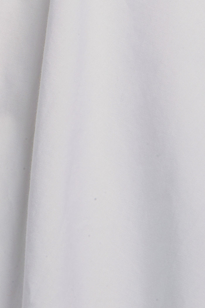 Chemisier 100% coton bio, WHITE, detail image number 4