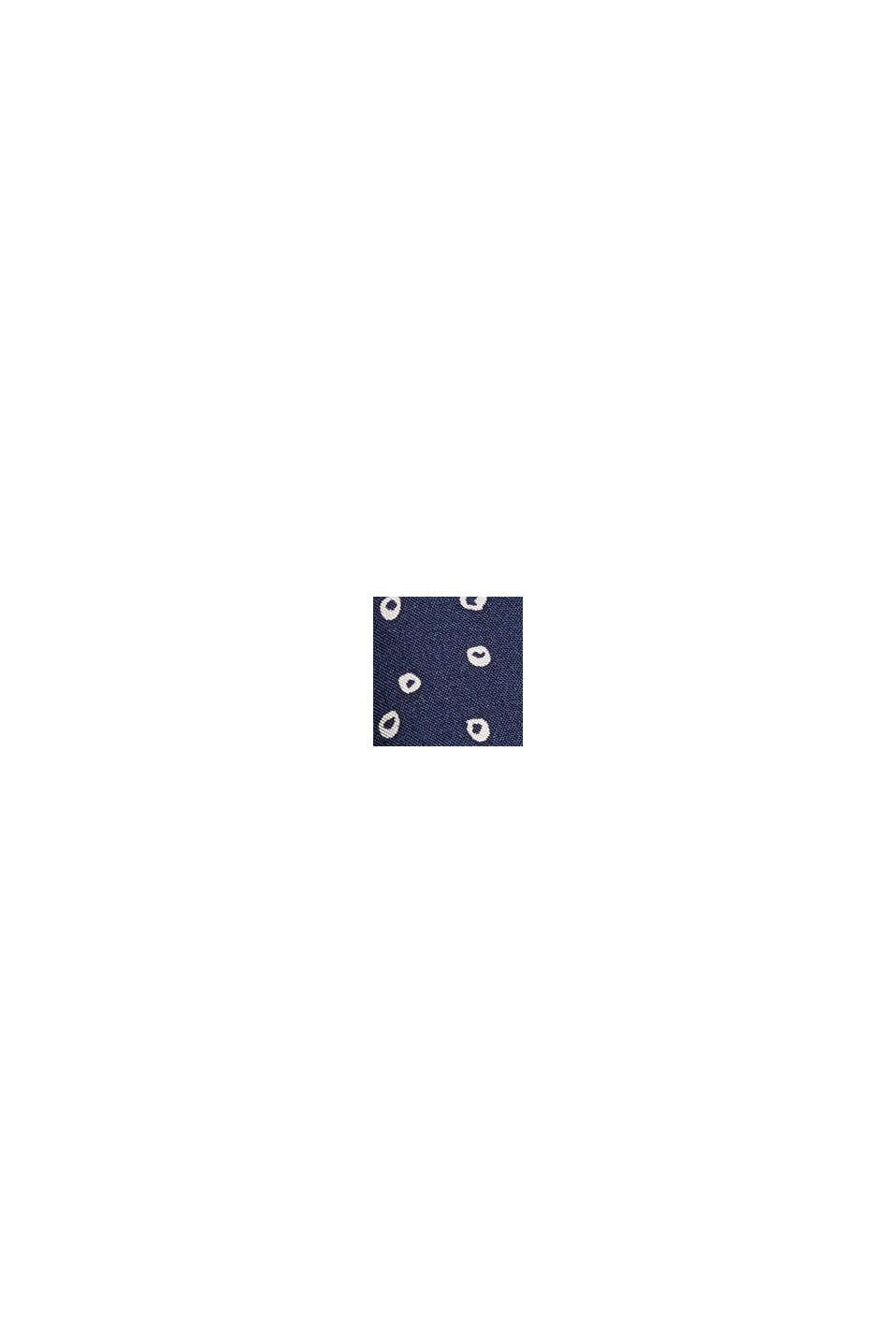 Print-Bluse aus LENZING™ ECOVERO™, NAVY, swatch