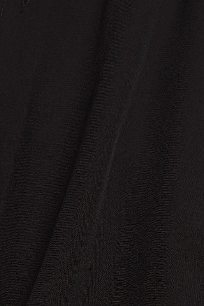 Long chemisier à teneur en fibres LENZING™ ECOVERO™, BLACK, detail image number 4