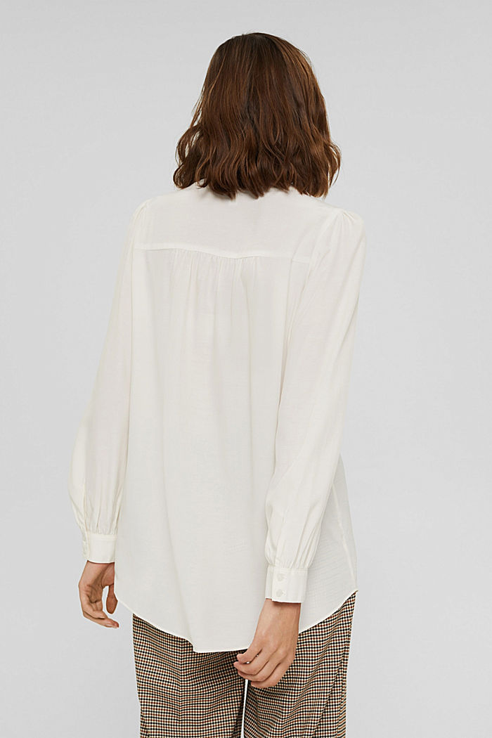 Long blouse with LENZING™ ECOVERO™, OFF WHITE, detail image number 3
