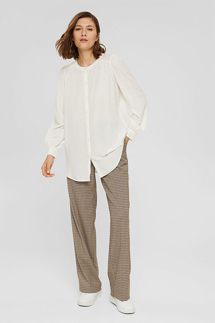 Long blouse with LENZING™ ECOVERO™, OFF WHITE, detail image number 1