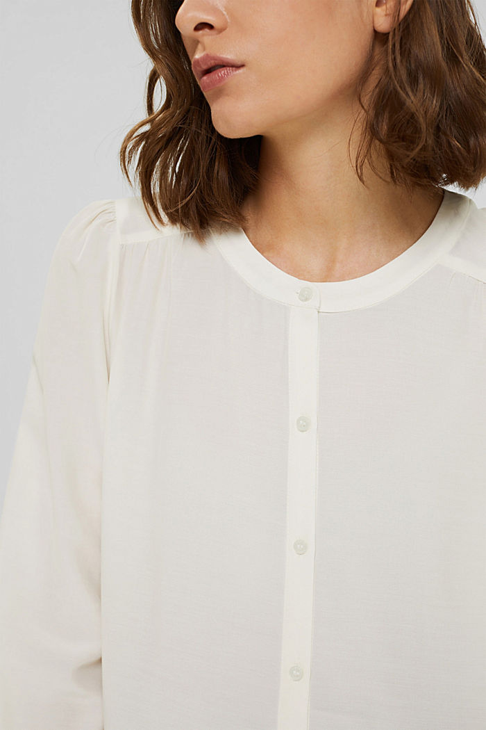 Long blouse with LENZING™ ECOVERO™, OFF WHITE, detail image number 2