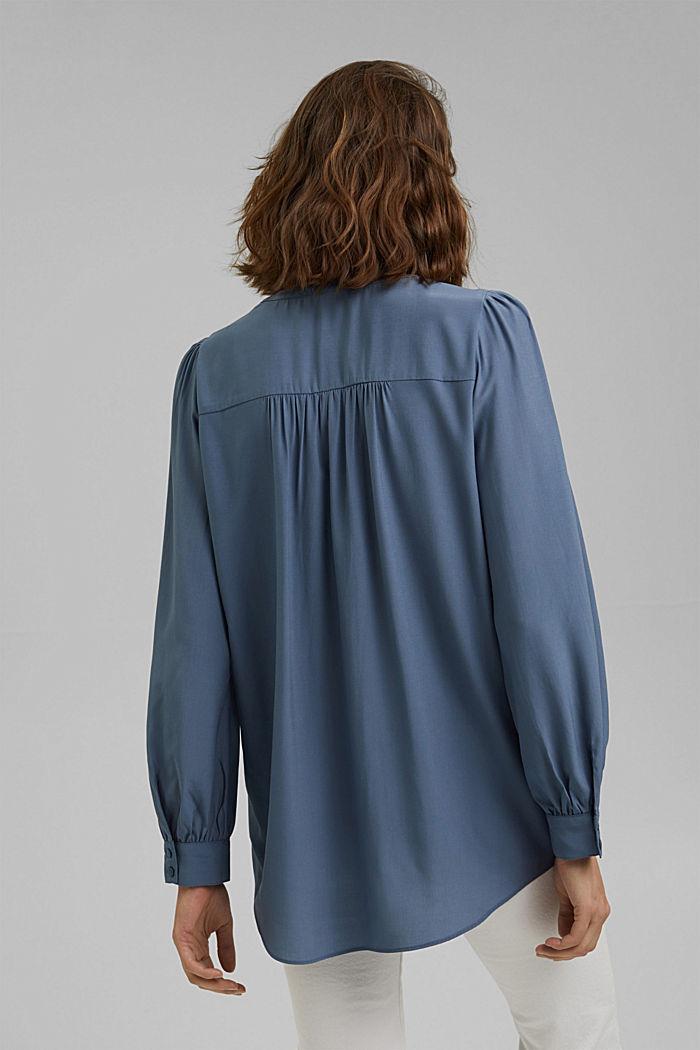 Long chemisier à teneur en fibres LENZING™ ECOVERO™, GREY BLUE, detail image number 3