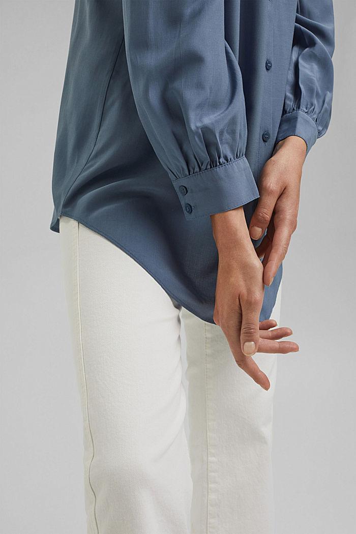 Long chemisier à teneur en fibres LENZING™ ECOVERO™, GREY BLUE, detail image number 2