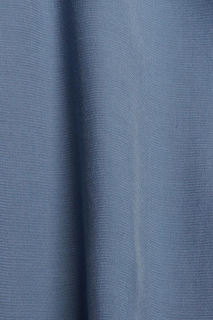 Long chemisier à teneur en fibres LENZING™ ECOVERO™, GREY BLUE, detail image number 4