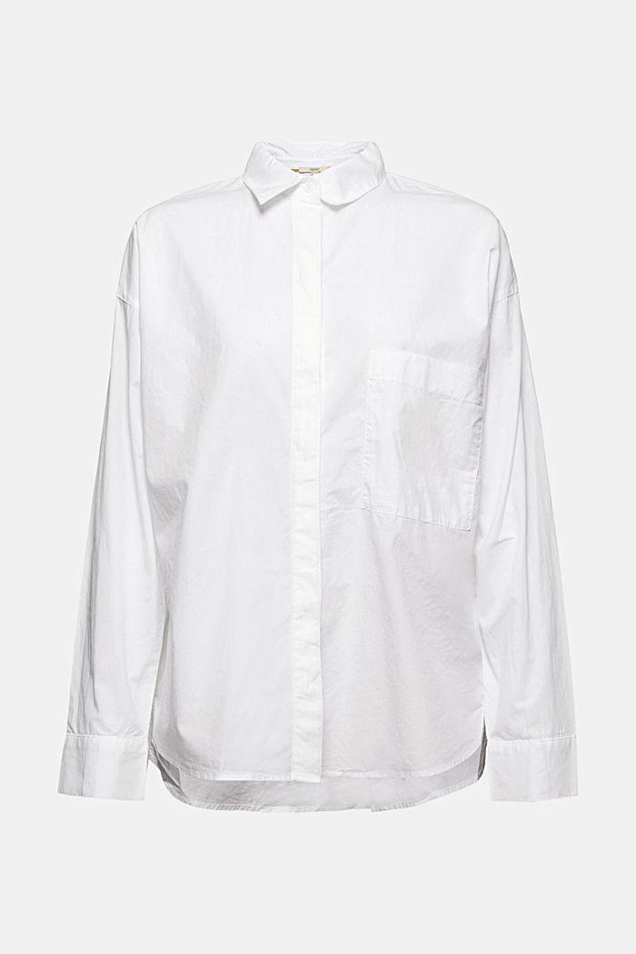 Oversized overhemdblouse van 100% biologisch katoen