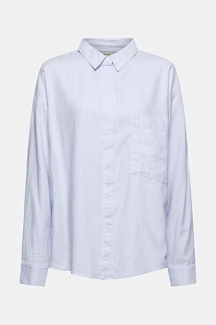 Overhemdblouse van 100% organic cotton