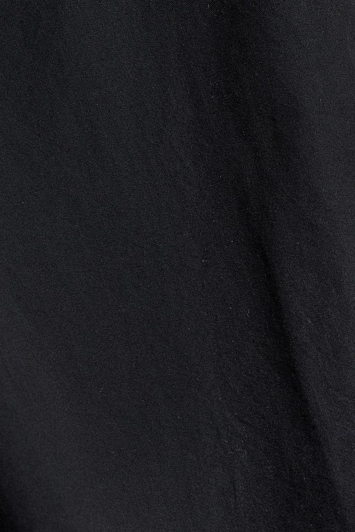 Long chemisier en 100% coton biologique, BLACK, detail image number 4