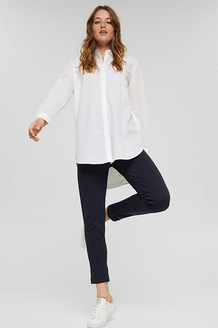 Lange blouse van 100% biologisch katoen