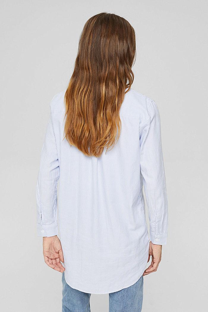 Overhemdblouse van 100% organic cotton, PASTEL BLUE, detail image number 3