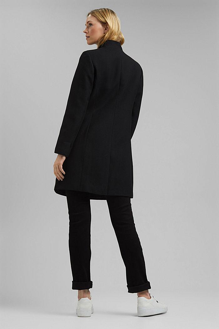 Coat, BLACK, detail image number 3