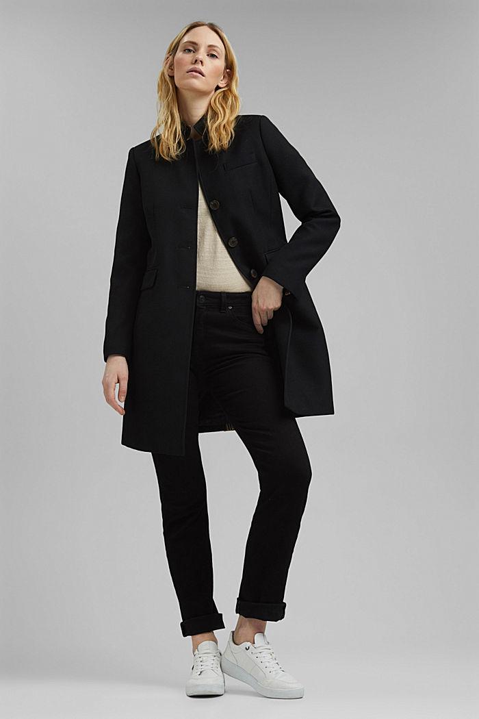 Coat, BLACK, detail image number 1