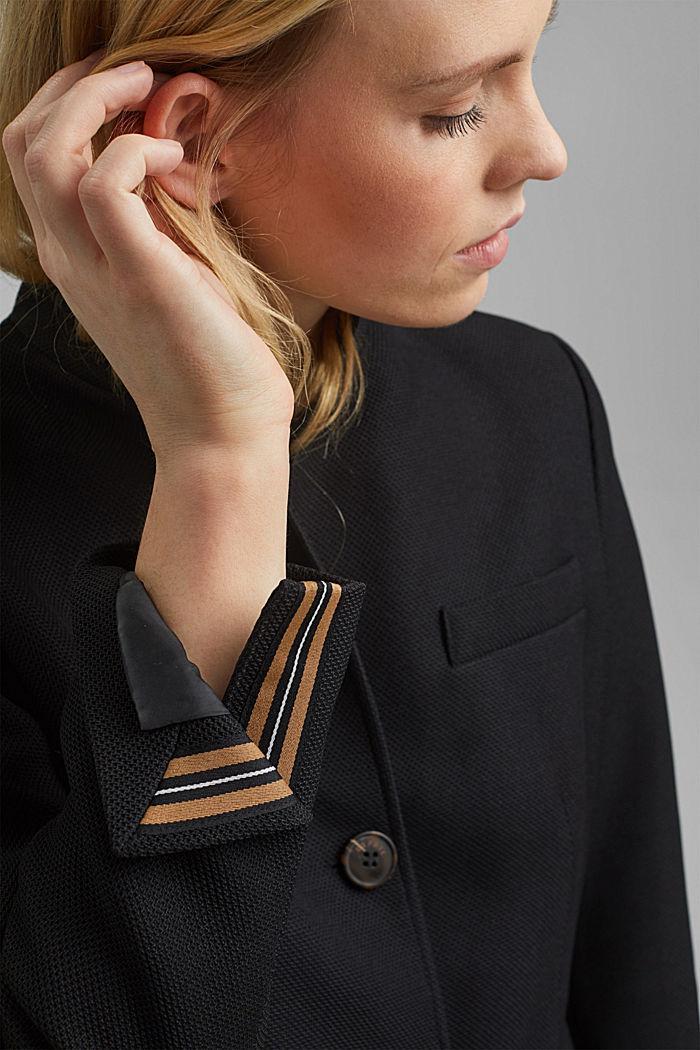 Coat, BLACK, detail image number 5