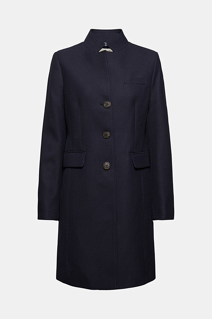 Manteau blazer en maille piquée