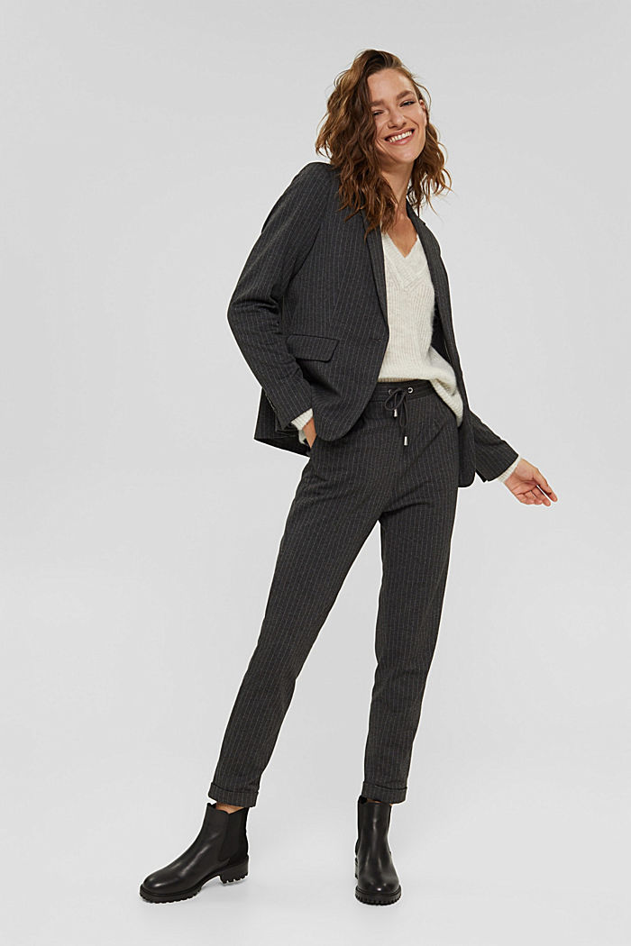PINSTRIPE mix + match jogg-blazer, ANTHRACITE, detail image number 6