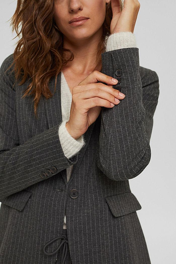 PINSTRIPE mix + match jogg-blazer, ANTHRACITE, detail image number 2