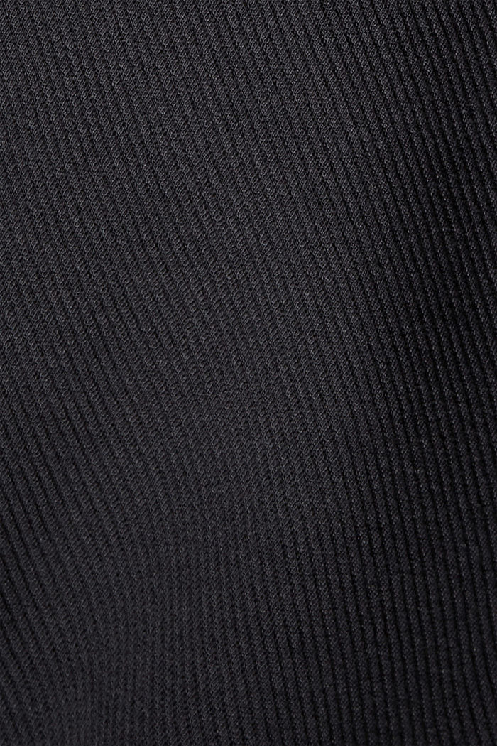 Boxy jacket with twill texture, BLACK, detail image number 4
