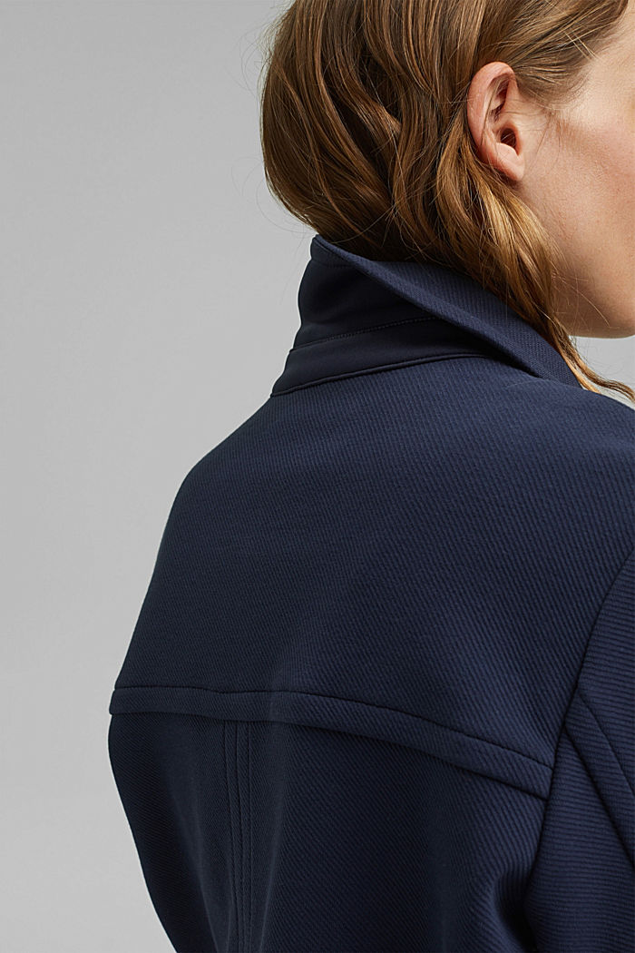 Giacca squadrata con struttura in twill, NAVY, detail image number 2