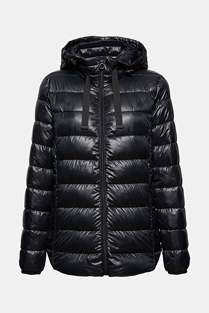 Recycled: Quilted jacket with an adjustable hood