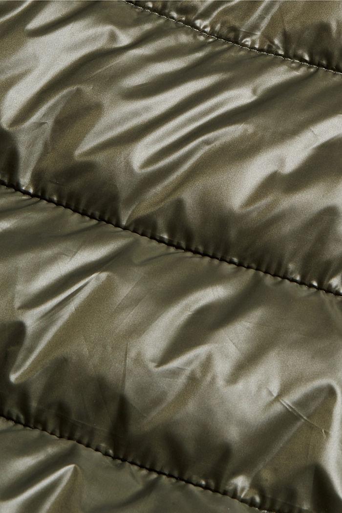 Kierrätettyä: tikkitakki, jossa säädettävä huppu, DARK KHAKI, detail image number 4