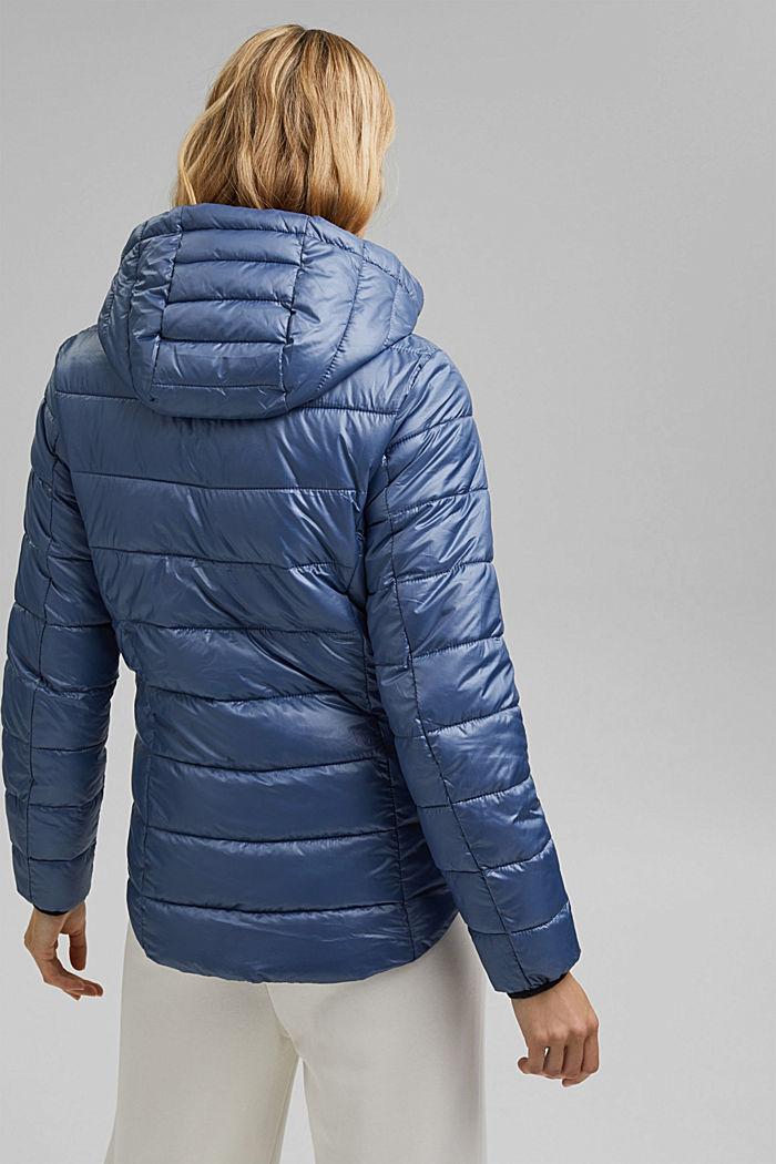 En matière recyclée: la veste matelassée à capuche ajustable, GREY BLUE, detail image number 3