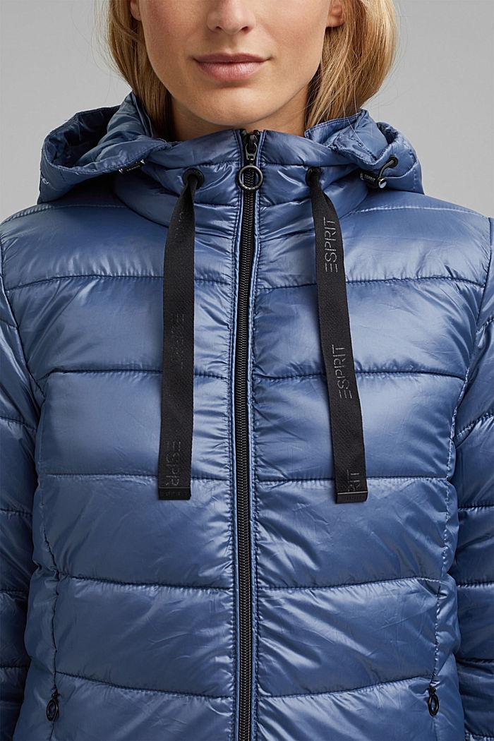 En matière recyclée: la veste matelassée à capuche ajustable, GREY BLUE, detail image number 2