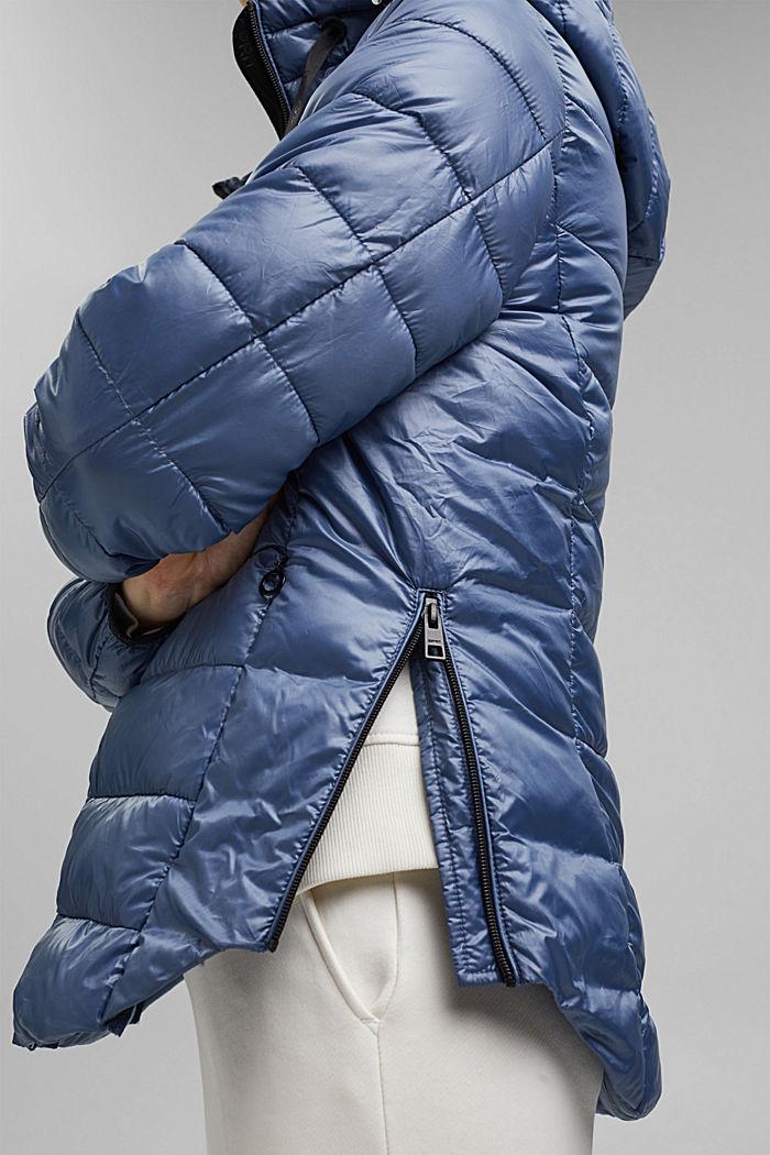 En matière recyclée: la veste matelassée à capuche ajustable, GREY BLUE, detail image number 5
