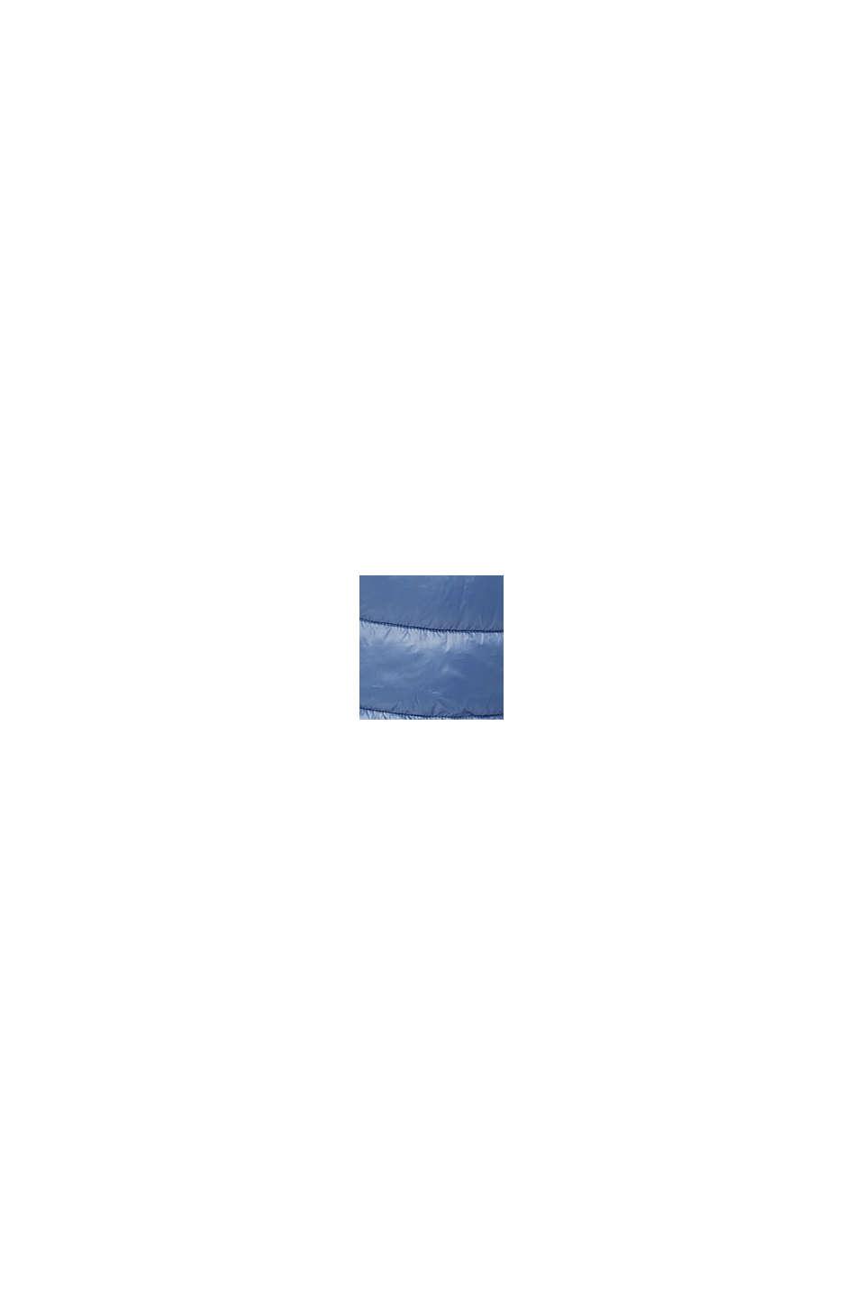 Återvunnet material: superlätt quiltad väst med huva, GREY BLUE, swatch