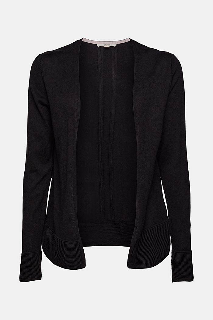 Cardigan with organic cotton, BLACK, detail image number 5