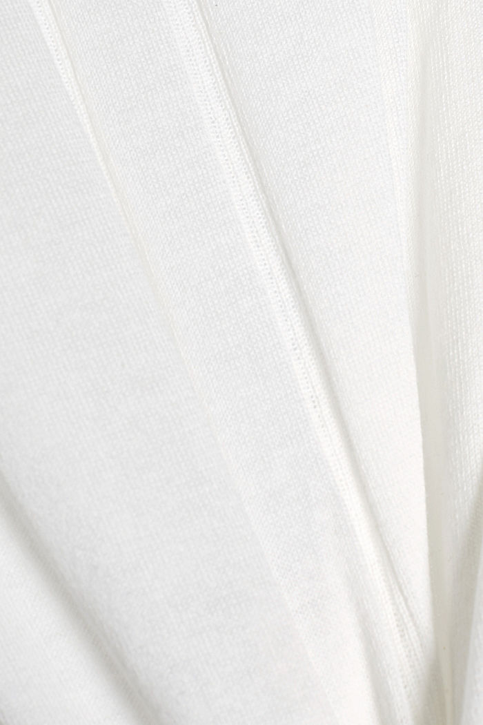 Cardigan with organic cotton, OFF WHITE, detail image number 4