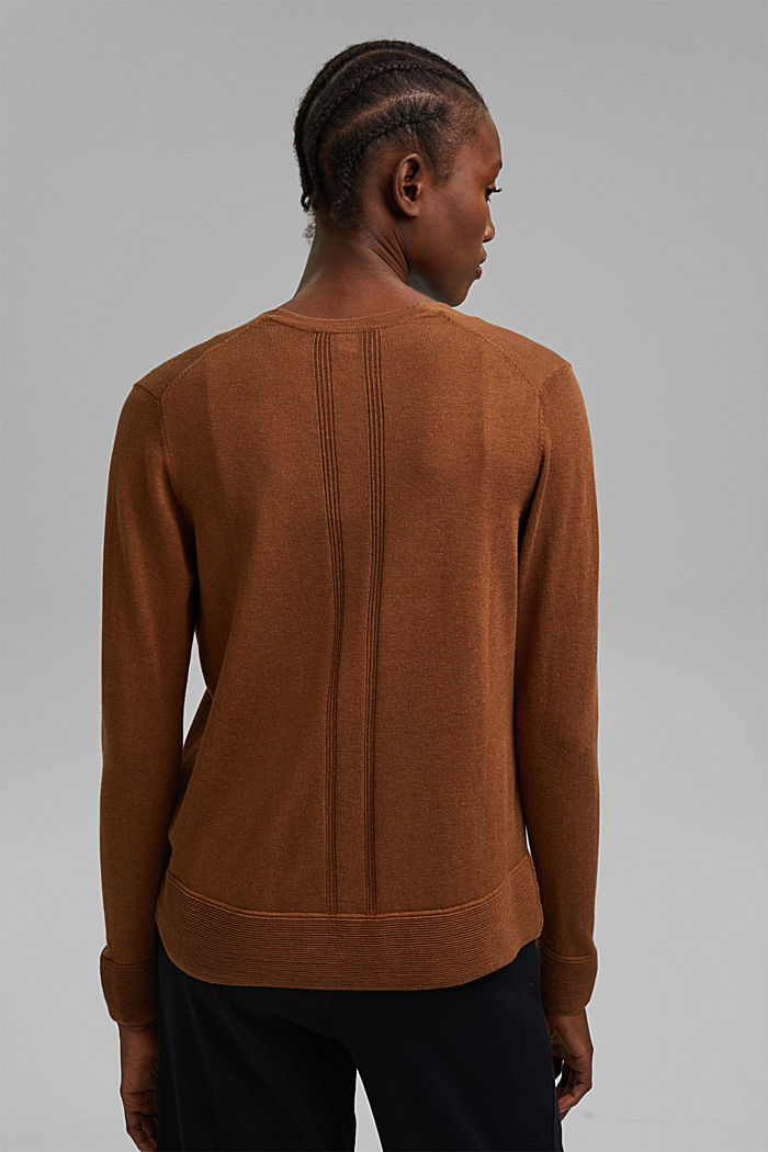 Vest met organic cotton, TOFFEE, detail image number 3