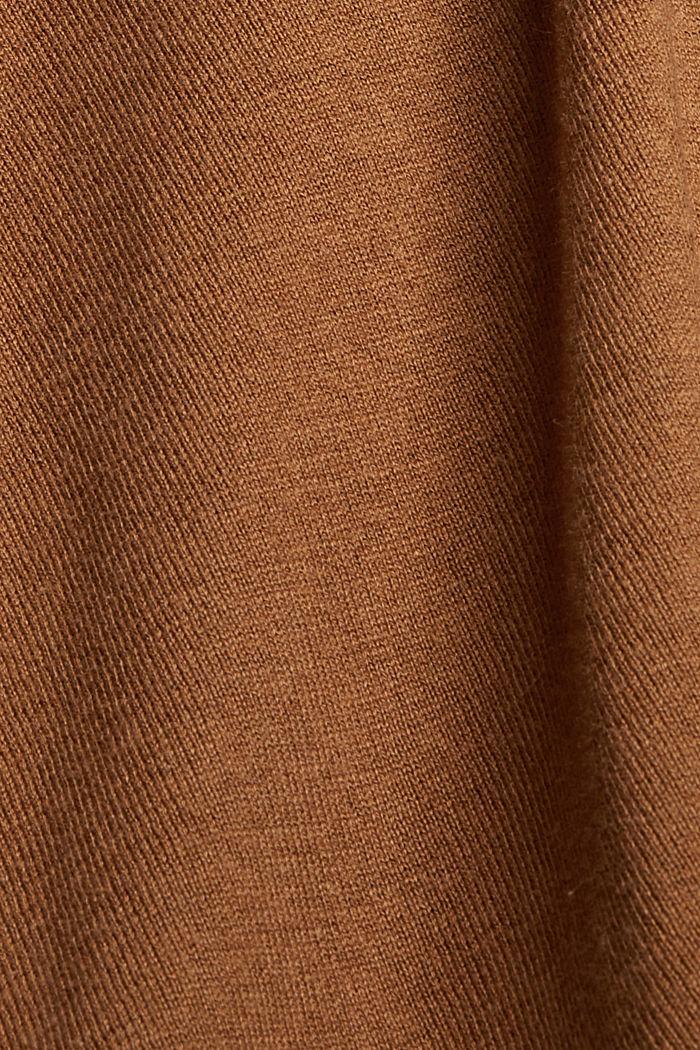Vest met organic cotton, TOFFEE, detail image number 4
