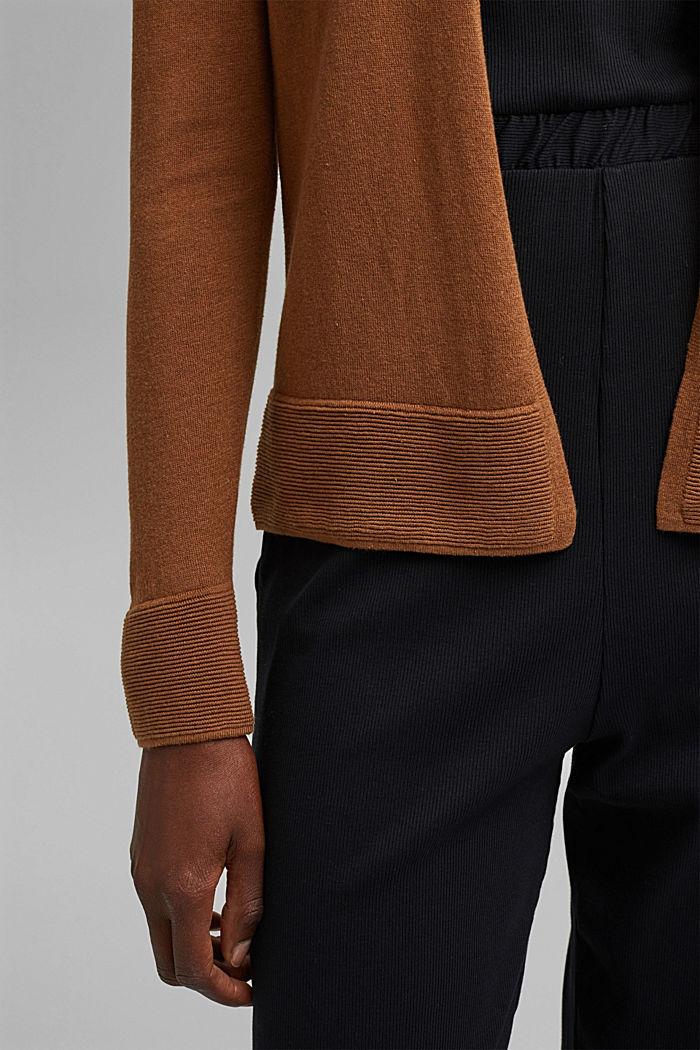 Vest met organic cotton, TOFFEE, detail image number 5