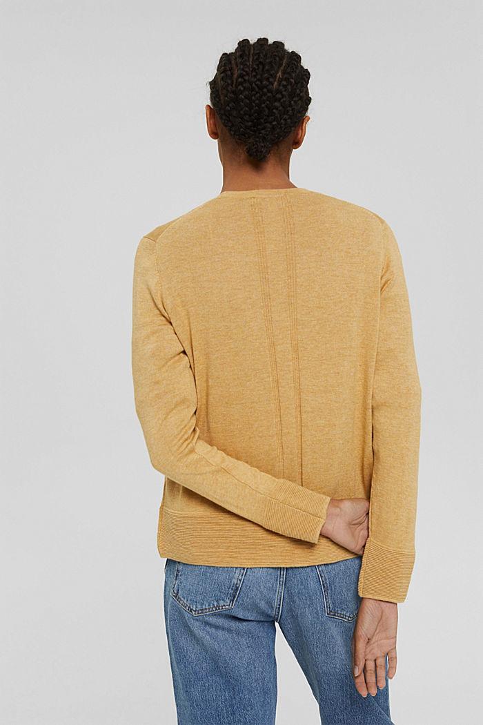 Cardigan mit Organic Cotton, KHAKI BEIGE, detail image number 3