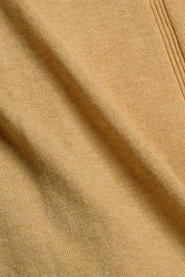 Cardigan mit Organic Cotton, KHAKI BEIGE, detail image number 4