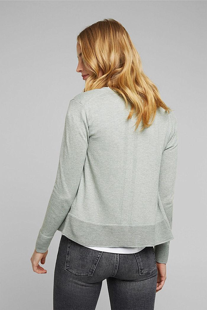 Vest met organic cotton, DUSTY GREEN, detail image number 3