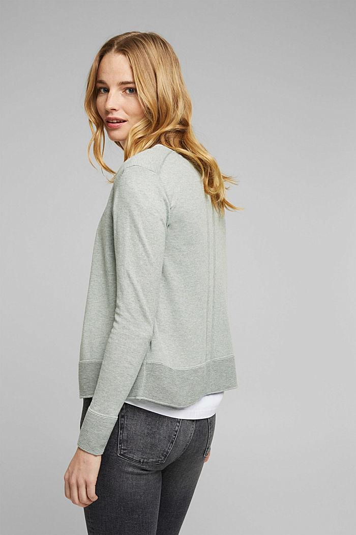 Vest met organic cotton, DUSTY GREEN, detail image number 6