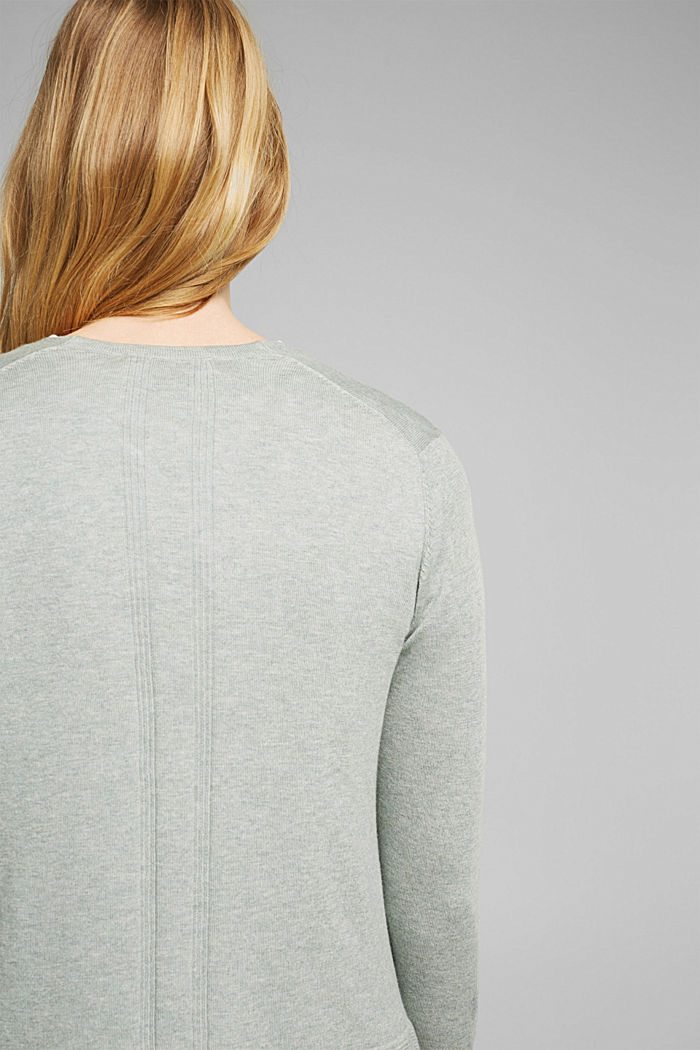 Cardigan with organic cotton, DUSTY GREEN, detail image number 2