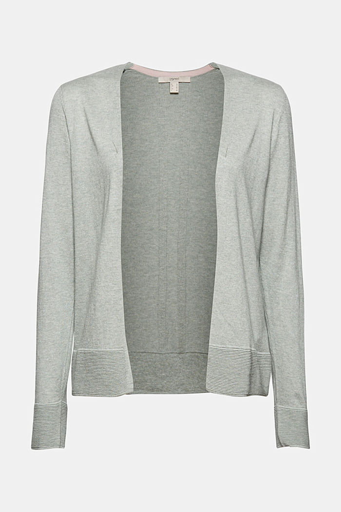 Cardigan with organic cotton, DUSTY GREEN, detail image number 7