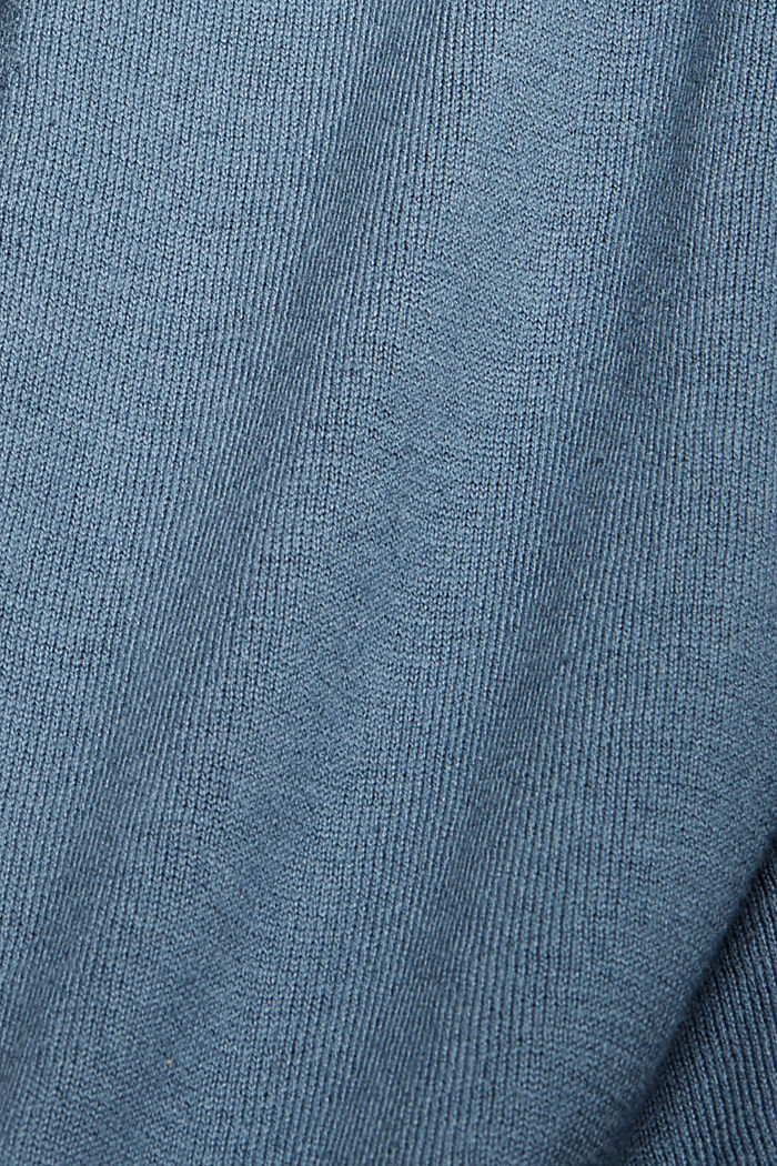 Cardigan with organic cotton, GREY BLUE, detail image number 4