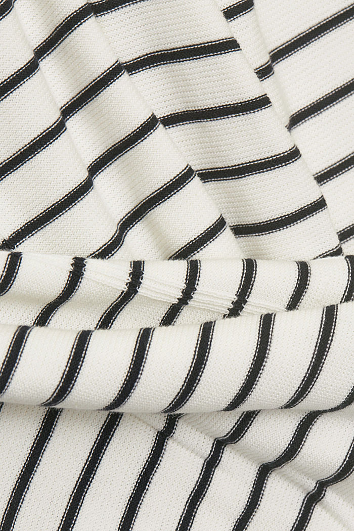 Jumper with stripes, organic cotton, OFF WHITE, detail image number 4