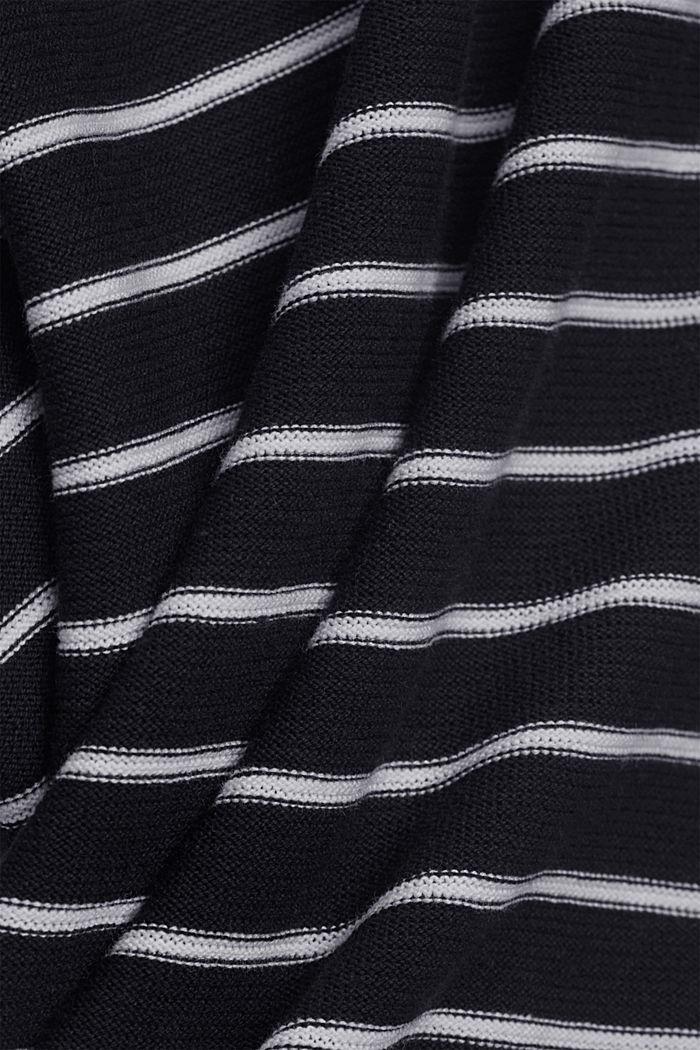 Pull-over à rayures, coton biologique, NAVY, detail image number 4