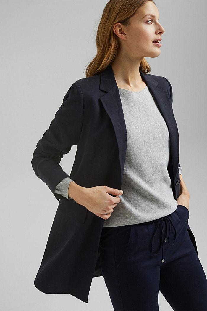Bateau neckline jumper made of organic cotton, LIGHT GREY, detail image number 5