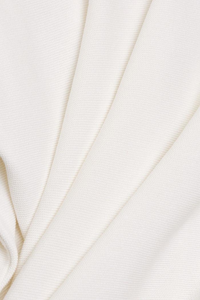 Trui met boothals, van biologisch katoen, OFF WHITE, detail image number 4