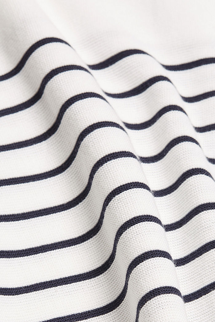 Bateau neckline jumper made of organic cotton, NEW OFF WHITE, detail image number 4